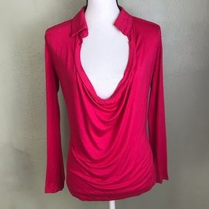 Ya Los Angeles NWT Pink Long Sleeved Top Size S